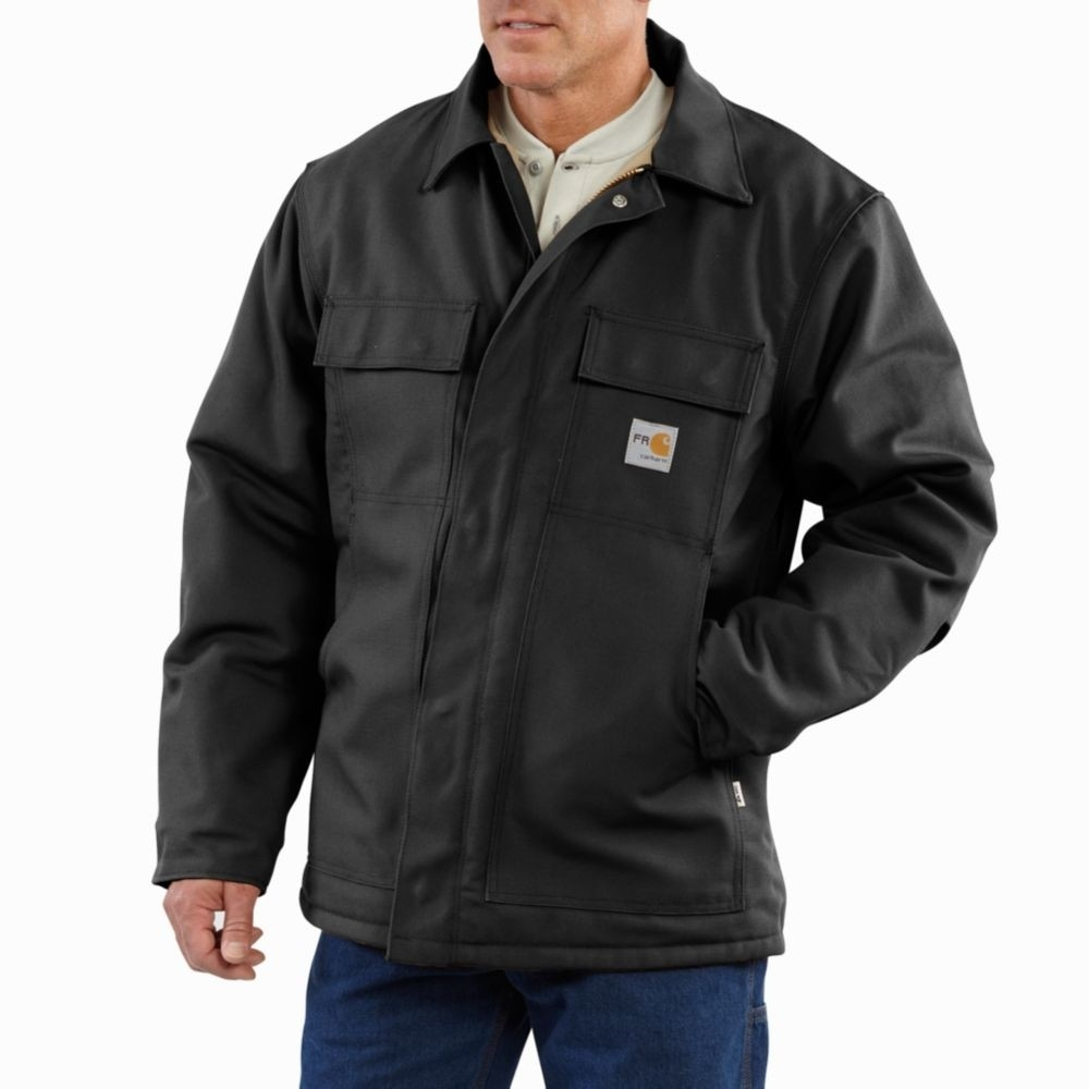 Men's Carhartt Flame-Resistant Quilt-Lined Duck Traditional Coat