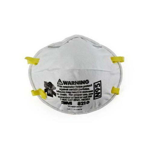 3M™ 051138-46457 Disposable Particulate Respirator With Adjustable Nose Clip, Standard, N95, 95%, Dual Elastic, White