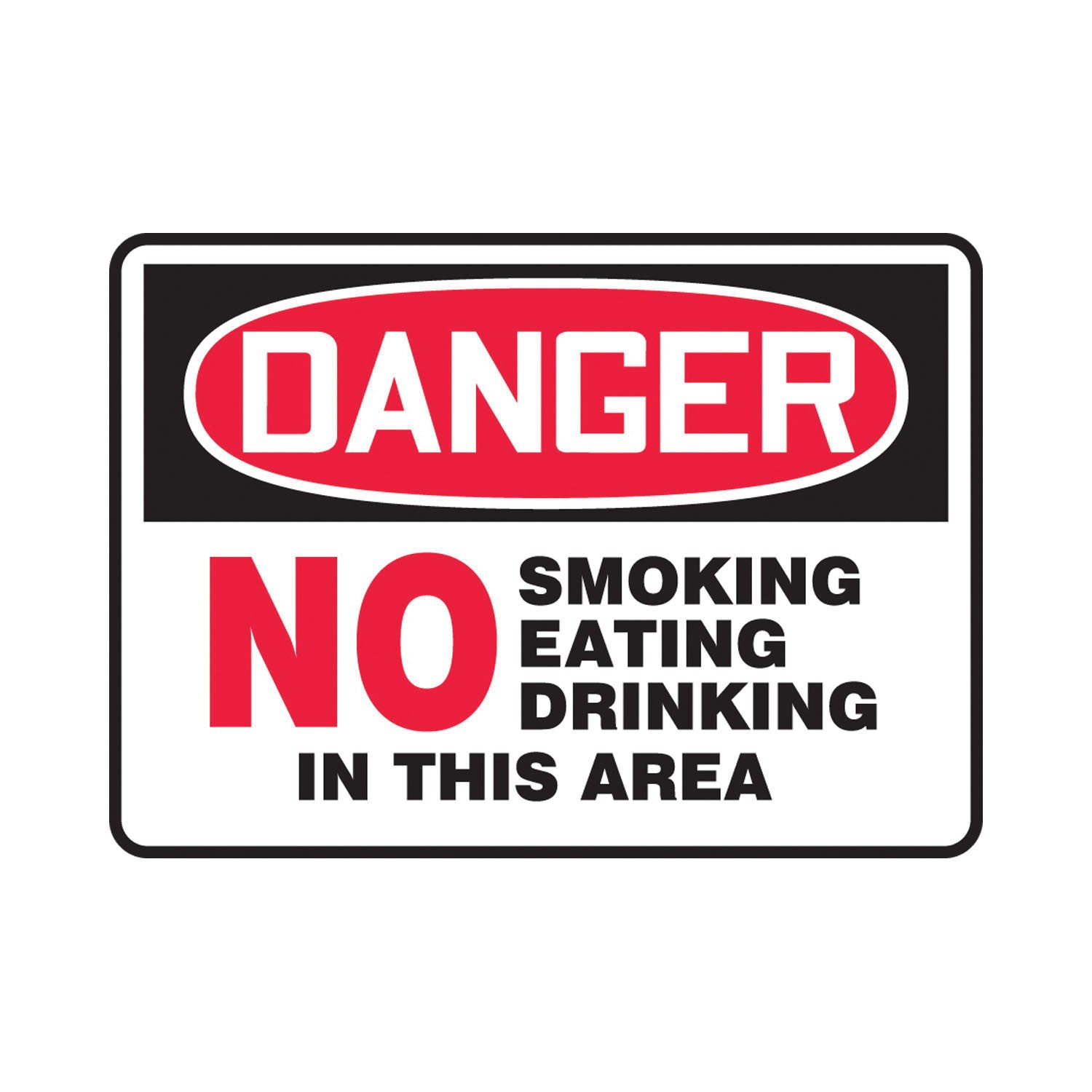 Accuform® MSMK053VA Danger Sign, 10 in H x 14 in W, 0 04 in Aluminum