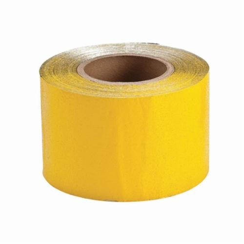Brady® 78264 Pavement Marking Tape, 150 ft L x 4 in W, Reflective Yellow, High Retro Directive Reflective Tape