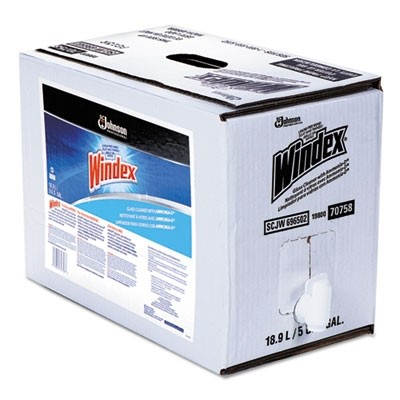 Windex Glass Cleaner with Ammonia-D, 5gal Bag-in-Box Dispenser