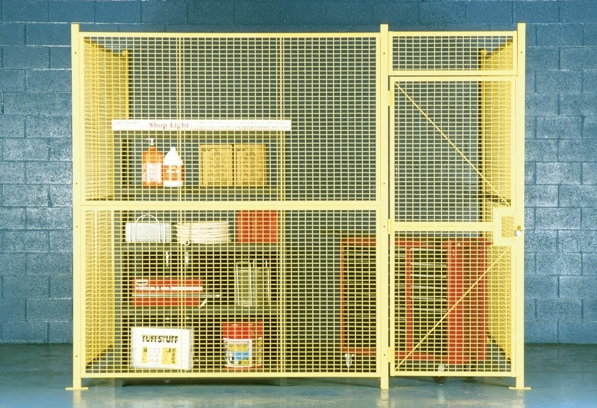 WIRE MESH ENCLOSURES, No. of Sides: 2, Size L x W x H: 10 x 20 x 10', Crating Charges: Crating charges will be added