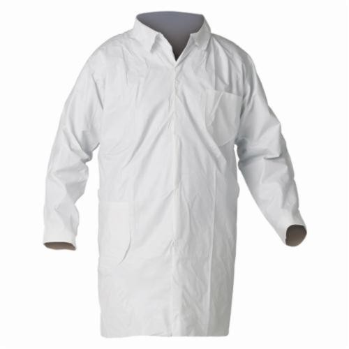 KleenGuard; 44456 Particle Protection Lab Coat, 3XL, White, Unisex, Polypropylene