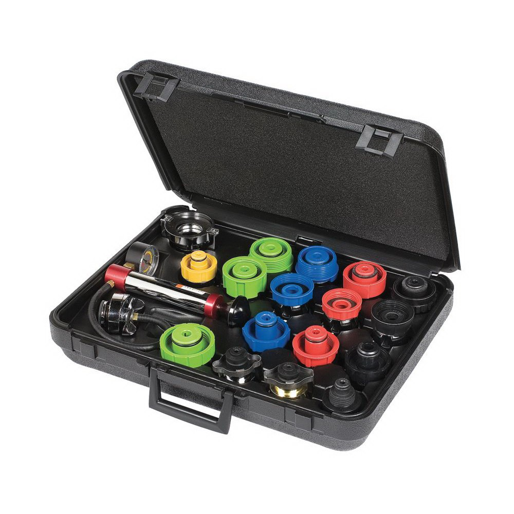 Proto® JFF1700 Cooling System Tester Kit, 23 Pieces, For Use With Cars and Light Trucks