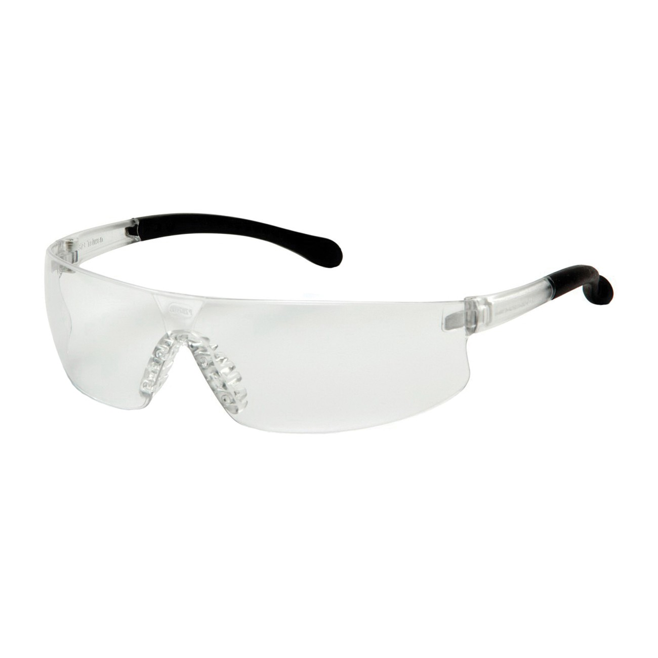 Pyramex® S7210ST Economical, Light Weight Protective Glasses, Universal, Frameless Clear Frame, Anti-Fog Clear Lens