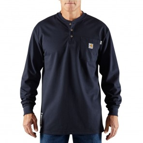 Men's Carhartt Force Flame-Resistant Work-Dry Cotton Long-Sleeve Henley