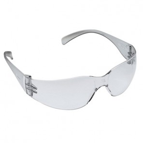 Liberty Glove F-1 Safety Glasses Clear Anti-Fog Lens with Clear Frame, Wrap-around Style