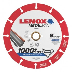 "Lenox METALMAX Cut-Off Wheel - 6"" Diameter, .050"" Thickness, 7/8"" Arbor, 1972923"