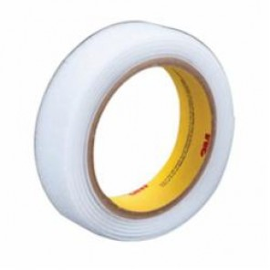 3M™ Scotchmate™ SJ3531 Napped Reclosable Loop Fastener, 1 in W x 50 yd Roll L, 0.15 in THK, White