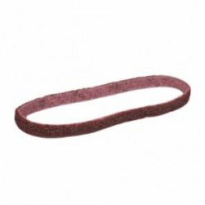 Scotch-Brite™ SC-BS Surface Conditioning Non-Woven Abrasive Belt, 1/2 in W x 24 in L, Medium Grade