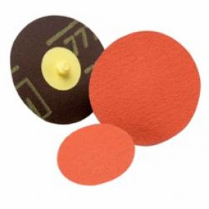 Roloc™ 777F TR Button Style PSA Close Coated Abrasive Disc, 2 in Dia, 80 Grit, Medium Grade