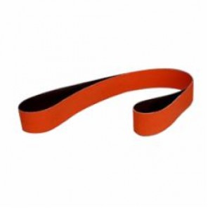 3M™ 777F Narrow Abrasive Belt, 2 in W x 72 in L, P120 Grit, Medium Grade, Ceramic Abrasive