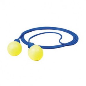 E-A-R™ Push-Ins™ Corded Reusable Ear Plug, Dome, 28 dB, Yellow Plug, 200/Box