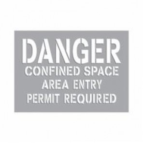 Accuform® CST712 Confined Space Stencil, Mylar