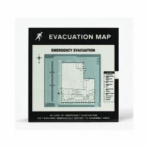 Accuform® DTA237 Evacuation Map Holder, 11 x 17 in Insert, 0.04 in Polycarbonate Face/Plastic Back, Clear