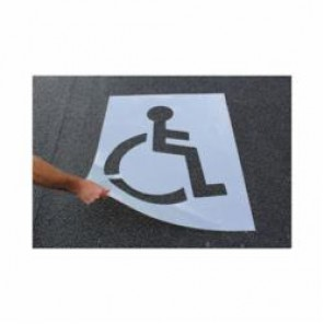 Accuform® FMS258 Parking Symbol Stencil, Polyethylene Plastic