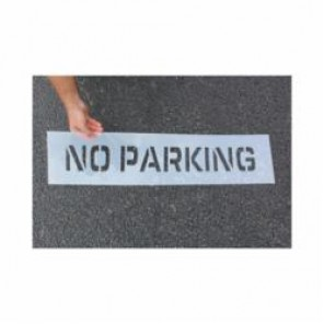 Accuform® FMS283 Parking Symbol Stencil, 8 in H, Polyethylene Plastic