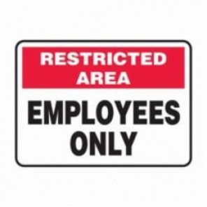 Accuform® MADM964XV Safety Sign, 10 in H x 14 in W, 6 mil Adhesive Dura-Vinyl