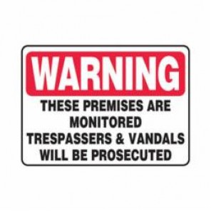Accuform® MATR309VA Warning Sign, 10 in H x 14 in W, 0.04 in Aluminum