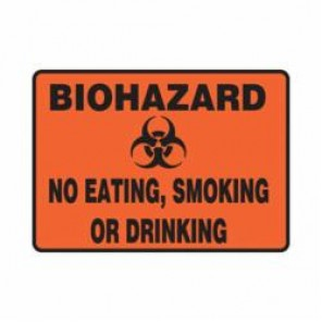 Accuform® MBHZ503VS Safety Sign, 7 in H x 10 in W, 4 mil Adhesive Vinyl