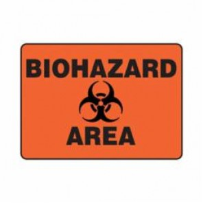 Accuform® MBHZ505VA Safety Sign, 10 in H x 14 in W, 0.04 in Aluminum