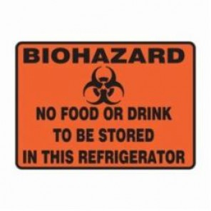 Accuform® MBHZ506XV Safety Sign, 7 in H x 10 in W, 6 mil Adhesive Dura-Vinyl