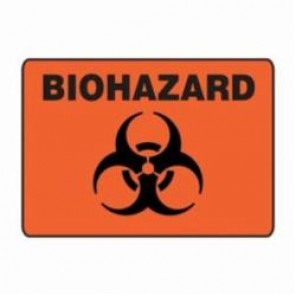 Accuform® MBHZ527XV Safety Sign, 7 in H x 10 in W, 6 mil Adhesive Dura-Vinyl