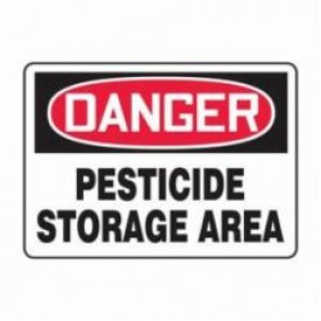 Accuform® MCAW100VS Danger Sign, 7 in H x 10 in W, 4 mil Vinyl