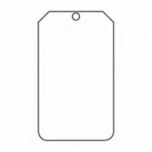Accuform® MDT520CTP Blank Tag, 3/8 in, White, PF-Cardstock