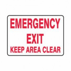 Accuform® MEXT552VP Safety Sign, 10 in H x 14 in W, 0.055 in Plastic