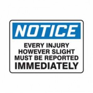 Accuform® MFSD818VA Notice Sign, 7 in H x 10 in W, 0.04 in Aluminum