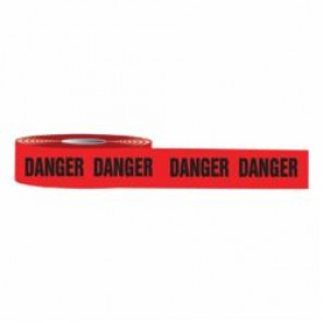 Accuform® MPT01 Barricade Tape, DANGER, 1000 ft L x 3 in W, Black/Red, Plastic
