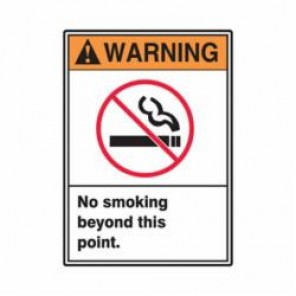 Accuform® MRMK301VS Warning Sign, 10 in H x 7 in W, 4 mil Adhesive Vinyl