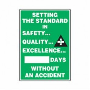 Accuform® MSR234PL Safety Sign, 28 in H x 20 in W, Wall Mount, 0.125 in Plastic