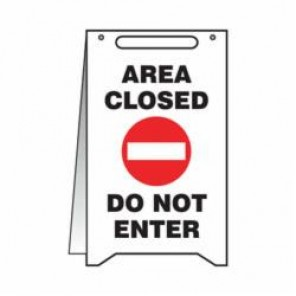 Accuform® Fold-Ups® Floor Sign, 20 in H x 12 in W, 0.125 in High Impact Plastic