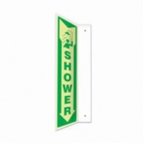 Accuform® PSP916 90D Projection Sign, 18 in H x 4 in W, 0.10 in Lumi-Glow Plastic