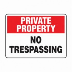 Accuform® MATR962VS Security Sign, 7 in H x 10 in W, Adhesive Vinyl
