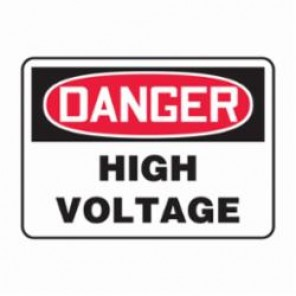 Accuform® MELC113VS Danger Sign, 7 in H x 10 in W, Adhesive Vinyl