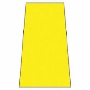 Accuform® PFW400 Floor Safety Sign, 25 in H x 12 in W, Yellow, Plastic