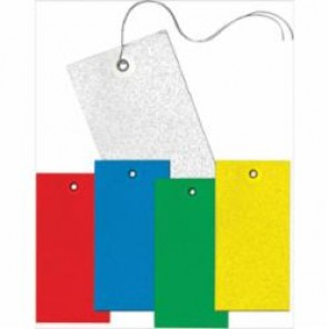 Accuform® TBB918P Light Weight Blank Tag, 3-1/8 in H x 6-1/4 in W, 3/16 in, Blue, DuPont® Tyvek®
