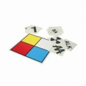 Accuform® ZFD101XV NFPA Blank Placard Kit, 10 in H x 10 in W