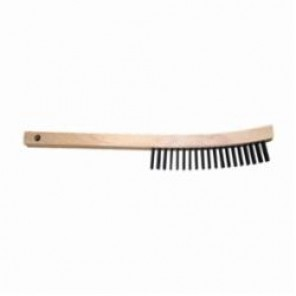 PFERD 85007 Scratch Brush With Scraper, 6-1/4 in Brush, 13-3/4 in L x 5/8 in W Block, 13-3/4 in OAL, 1-3/16 in