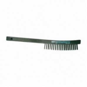 PFERD 85015 Scratch Brush, 6-1/4 in Brush, 13-3/4 in L x 7/8 in W Block, 13-3/4 in OAL, 1-1/8 in Bronze Trim
