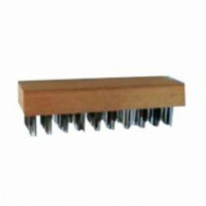 PFERD 85092 Flat Wire Block Brush, 7-3/4 in Brush, 2-5/8 in W Block, 1-1/4 in Carbon Steel Trim
