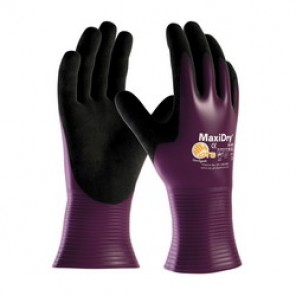 PIP® MaxiDry® 56-426 Ultra Light Weight Coated Gloves, XXL, Nitrile Palm, Purple/Black, Seamless, Lycra®