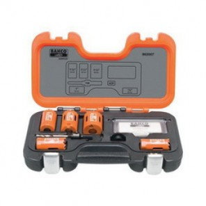 Bahco® 862007 Professional Hole Saw Set, 7 Pieces, For Use With 9/16 to 13/16 in and 1-1/4 to 6 in Hole Saws