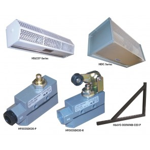 ACCESSORIES FOR BERNER AIR CURTAINS, Pair of Wall Mount Brackets, For Use With: All HIDC12 & HIDC14 Series Only
