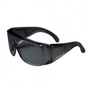 Bouton® 250-99-0901 Dual Lens Protective Glasses, Universal, Full Framed Clear Frame, Anti-Scratch Gray Lens