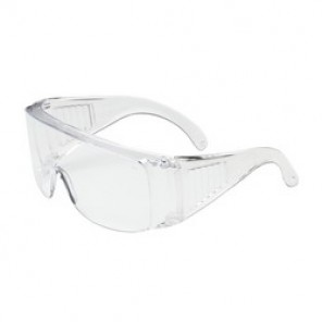 Bouton® 250-99-0980 Dual Lens, OTG Protective Glasses, Universal, Rimless Clear Frame, Uncoated Clear Lens