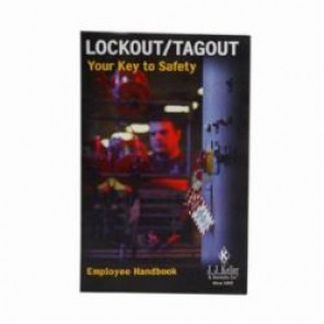 Brady® 104109 Lockout Training Book, Book, English, Black, Provides Training for Policies and Procedures